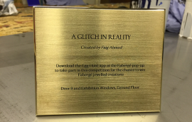 Brass Plaque chemically etched for Farberge Front