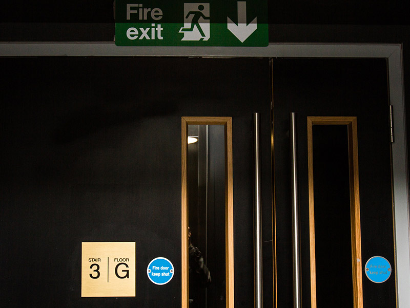 Hotel Safety Signs for Sea Containers