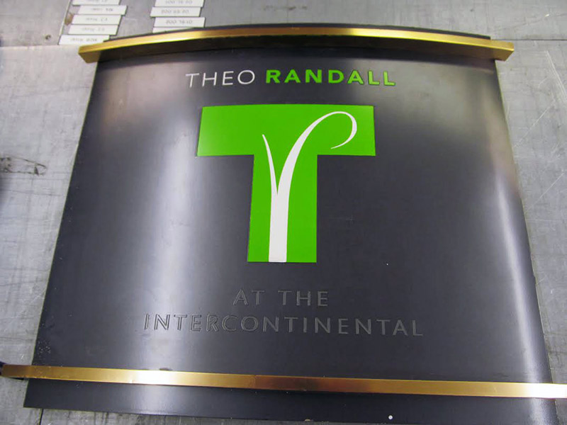 Hotel Reception Sign for Intercontinental