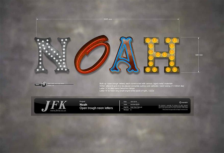 Signage Design for Noah